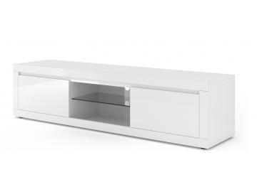 moderny biely leskly TV stolik COMO BIANCO 5 biely lesk