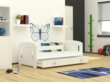 moderna biela detska postel FILIP s uloznym priestorom