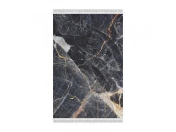 Koberec, vzor čierny mramor, 160x230, RENOX TYP 1