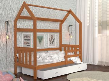 detska postel montessori domcek 2 jelsa s bielou