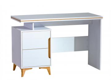 biely PC stolík GAPPA v modernom dizajne