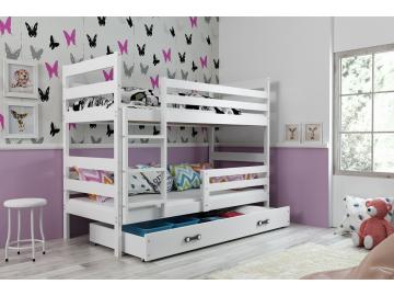 detska poschodova postel so zasuvkou ERYK BIELA BIELA