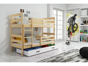 detska poschodova postel so zasuvkou ERYK BOROVICA BIELA