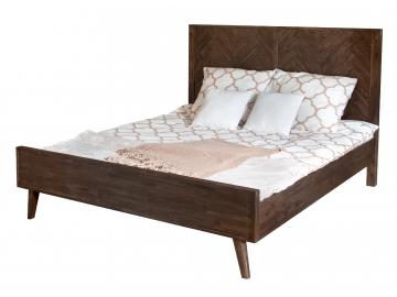 retro drevena manzelska postel ASHTON ASTK01