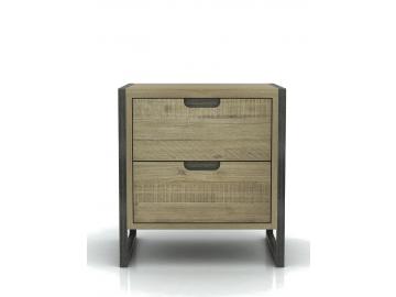 prakticky dreveny zasuvkovy nocny stolik FLOW FLO B02B detail