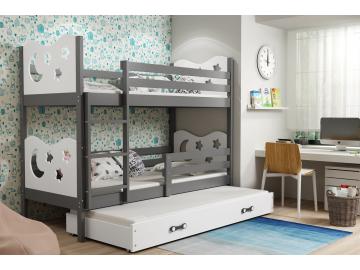 Detská poschodová posteľ Miko biela