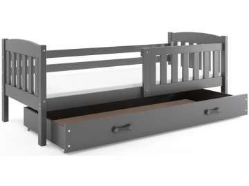 Detská posteľ Kubuš s úložným priestorom / SIVÁ