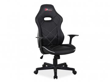 Stolička BOXTER čierno biela