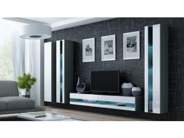 Obývacia stena vigo 6 new sivá biela
