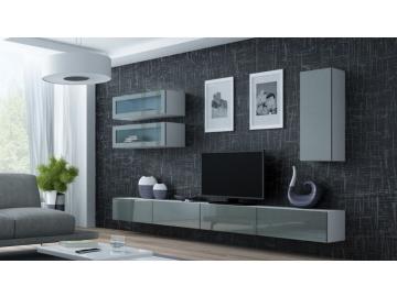 Obývacia stena VIGO 11 biela sivá