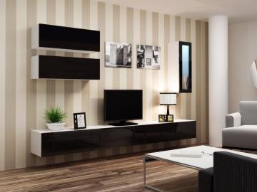 Obývacia stena VIGO 12 biela čierna