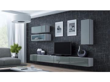 Obývacia stena VIGO 12 biela sivá