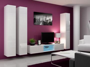 Obývacia stena VIGO 18 biela biela