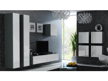 Obývacia stena VIGO 24 sivá biela