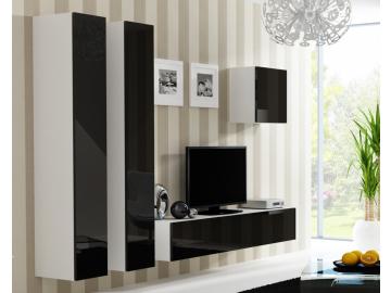 Obývacia stena VIGO 25 biela čierna