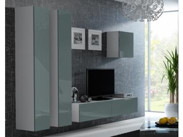 Obývacia stena VIGO 25 biela sivá