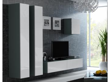 Obývacia stena VIGO 25 sivá biela