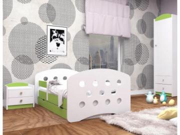 detska postel happy design s uloznym priestorom zelena gulicky