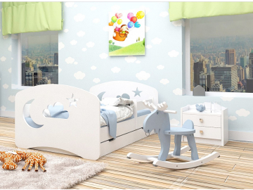 postel happy babies mesiacik hviezdicky oblacik biela biela