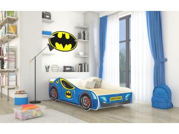 Detská auto posteľ Batcar