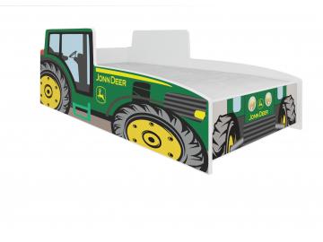 Detská auto posteľ Tractor zelený