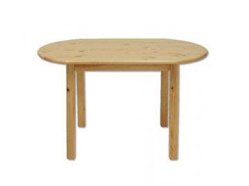 Stôl - masív ST106 | 115cm borovica - morenie jelša