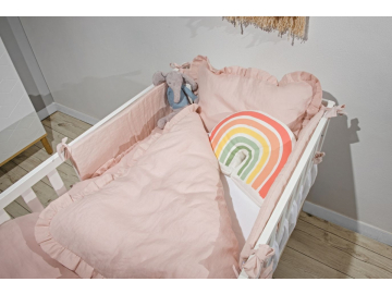 Toteme cot bed linen dusty pink bedding 01
