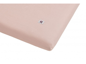 Linen fitted sheet dusty pink 01