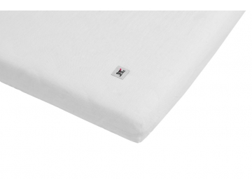 Linen fitted sheet snowy white 01