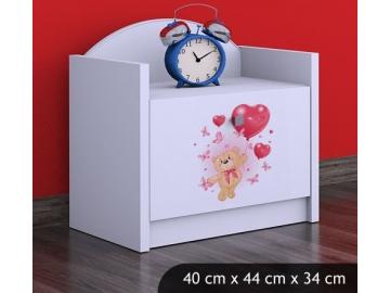 Zamilovaný macko jeden šuflík biela