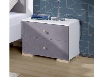 Nočný stolík ALICANTE biela.sivá