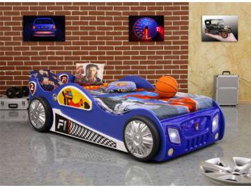 Detská posteľ formulka Monza modrá