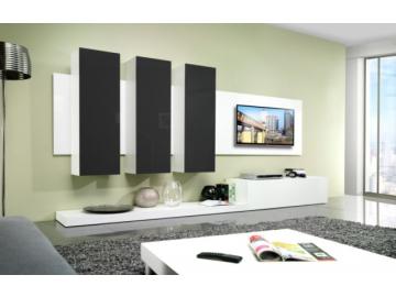 Obývacia stena LIFE biela/čierna