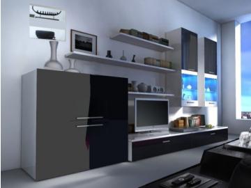 Obývacia stena COMO biela-čierna