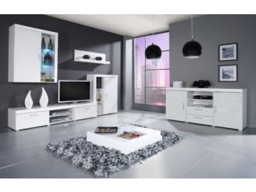 Obývacia stena SAMBA C biela-biely lesk