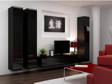 Obývacia stena Vigo I čierna čierna