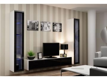 Obývacia stena Vigo V biela-čierna