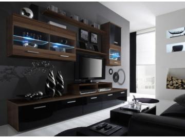 Obývacia stena Logo II slivka/čierna