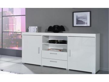 moderna biela leskla komoda SAMBA biela