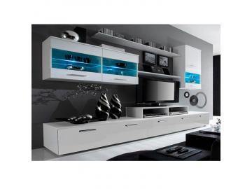 Obývacia stena LEO biela-biela