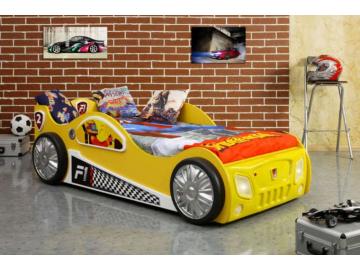 Detská posteľ formulka Monza žltá