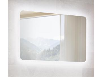 moderna bielo hneda leskla kupelnova zostava ARUBA LED zrkadlo