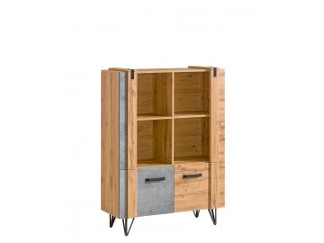 kombinovaný regál Lofter LO4 modernej zostavy nábytku LOFTER