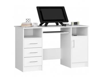 PC stolík Ana v bielom prevedení