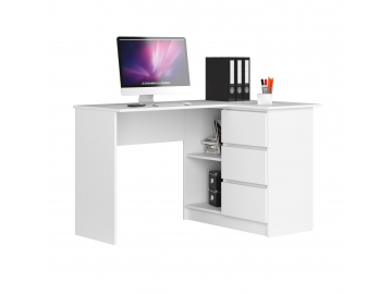 rohový písací stolík Clips B16 Biela prava