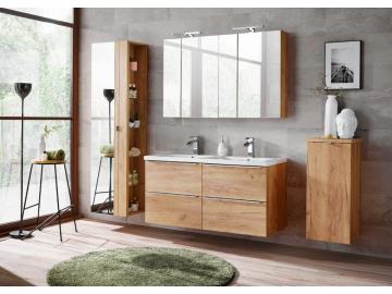 Zložená široká skrinka pod umývadlo CAPRI Oak