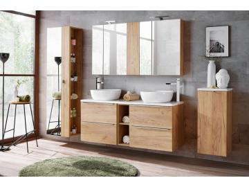 Zložená široká skrinka pod umývadlo s vrchnou doskou CAPRI / dub zlatý