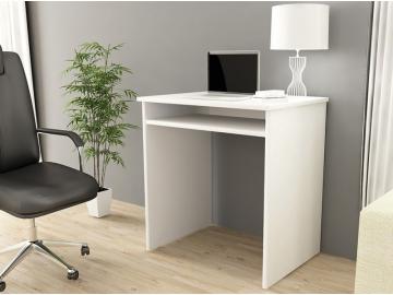 jednoduchý PC stolík Star v bielom prevedení