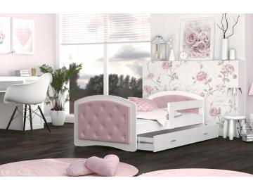 Detská posteľ Megi púdrovoružová (1)
