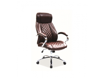 Kožené hnedé kancelárske kreslo Q 557